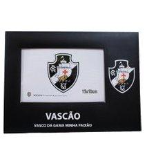 porta retrato minas de presentes papelão para uma foto 15x10cm - vasco preto