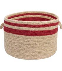 colonial mills cabin stripe braided storage basket