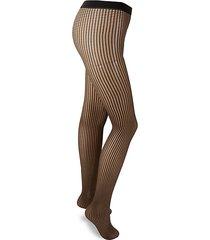 textured high-waist tights