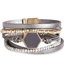 hexa resin beaded bracelet