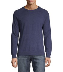 crewneck cotton-blend sweater