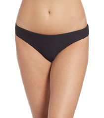 women's seafolly essentials hipster bikini bottoms, size 10 us - black