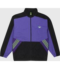 chaqueta violeta-negro adidas originals sprt archive tejida