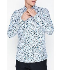 selected homme slhslimnew-mark shirt ls b noos skjortor vit