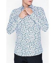 selected homme slhslimnew-mark shirt ls b noos skjortor vit