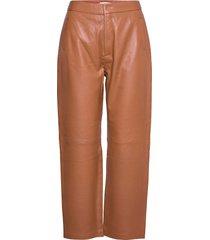 dellie leather pants leather leggings/broek bruin minus