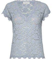 t-shirt ss t-shirts & tops short-sleeved blauw rosemunde