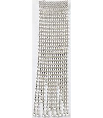 river island womens silver colour cup chain tassel hair clip