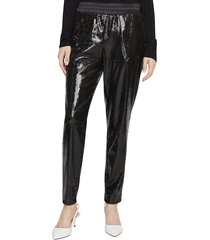 sanctuary women's sequin-embellished pants - black - size xl