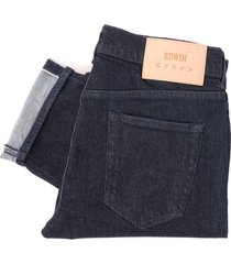 edwin ed-80 slim tapered jeans - cs red listed selvage blue denim i025955_f9_00