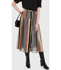falda multicolor mng