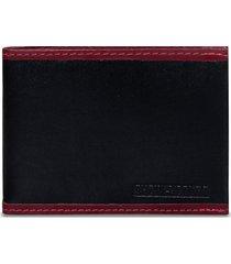 carteira show de couro prática preta