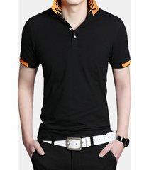 manica corta da uomo casual in cotone traspirante sottile in cotone traspirante business casual golf camicia