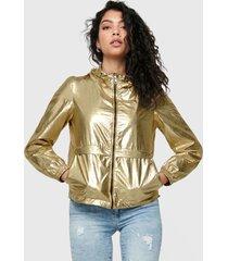 chaqueta only dorado - calce regular