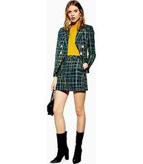 boucle check skirt - multi