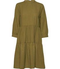 yasmelle 3/4 dress d2d knälång klänning grön yas