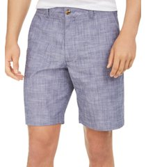 club room men's stretch chambray shorts, created for macy's