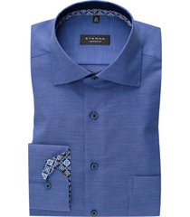 eterna shirt sleeve 7 comfort fit blauw geruit