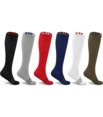 extreme fit men's and women's copper compression socks - 6 pair