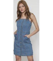 vestido jeans con 9 botones azul 609seisceronueve