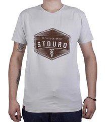 camiseta brasão logo masculina - masculino