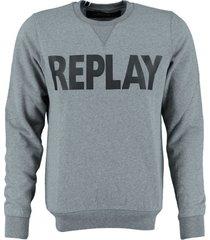 replay zachte grijze sweater