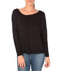 trui tom tailor basic structure pullover noir