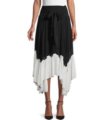 colorblock asymmetrical skirt