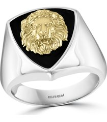 effy men's lion head statement ring in sterling silver & 18k gold-plated sterling silver