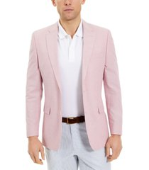tommy hilfiger men's modern-fit chambray sport coats