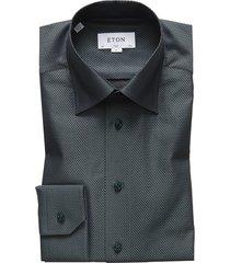 eton slim fit shirt groen
