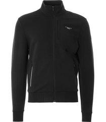 ac36 presented by prada x north sails muriwai stretch fleece cardigan | black | 451012-999