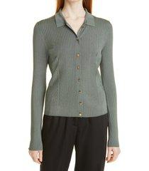 women's ted baker london rib cardigan, size 3 - green