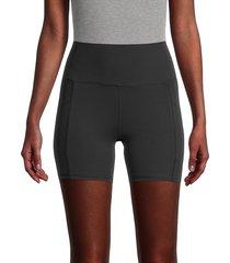 marika women's linnette high-waist bike shorts - midnight blue - size m