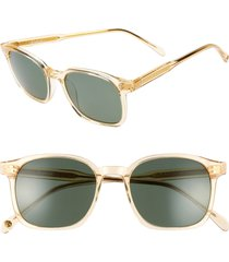 women's brightside dean 51mm polarized square sunglasses - champagne crystal/ green