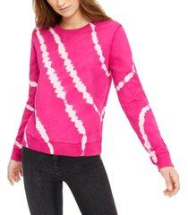 lucky brand cotton tie-dyed sweatshirt