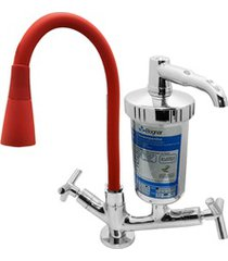 torneira filtro para cozinha de mesa conic c55 luxo vermelho