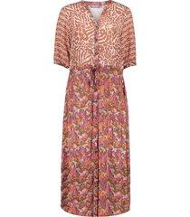 geisha 17439-20 720 jurk sand/coral combi