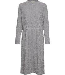 crinckle pop dupina jurk knielengte grijs mads nørgaard