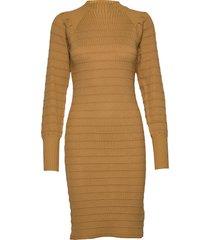 elenor dress knit stickad klänning brun soft rebels