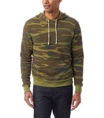 alternative apparel men's challenger printed pullover hoodie