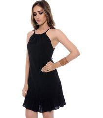 vestido curto b bonnie viscose alana preto
