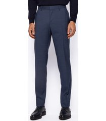 boss men's patterned slim-fit pants