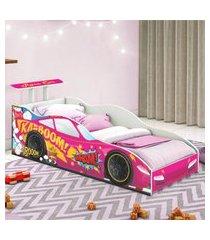 cama carro corredor solteiro pink casah
