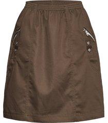 sc-akila knälång kjol brun soyaconcept