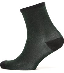 dina solid coll. lingerie hosiery socks grön becksöndergaard