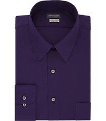 van heusen wrinkle free purple velvet regular fit dress shirt