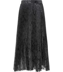 blumarine blumarine metallic pleated skirt