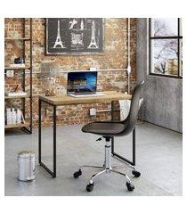 mesa de escritório studio carvalho 90 cm
