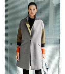 mantel amy vermont grijs::kaki::oranje